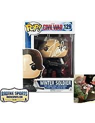 Stan Lee Autographed/Signed Funko Pop! Marvel Civil War Winter Soldier Toy