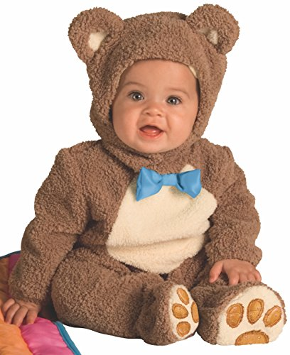 Flannel Newborn Teddy Bears - Rubie's Infant Noah Ark Collection Oatmeal Bear Jumpsuit, Brown/Beige, 12-18 Months