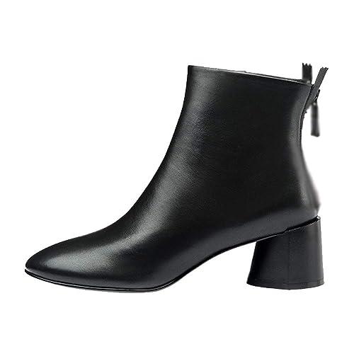 ZQZQ Botines, Cabeza Redonda, Botas De Mujer, Salvajes, Elegantes, Antideslizantes: Amazon.es: Zapatos y complementos