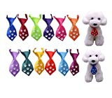 NEW Dog Cat Ties, Glow in Dark,Dog Ties Paw Print Glow, pet Collar, Dog Collar accessories, Dog Bowtie Holidays 12pcs/Pack