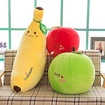 Giocattoli prima infanzia feimeifen Frutta Peluche Cuscino Banana Mela Frutta Giocattolo Bambola 85cm frutto