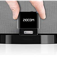 ZIOCOM 30 Pin Bluetooth Adapter Receiver for iPhone iPod Bose SoundDock and Other 30 pin Dock Speakers with 3.5mm Aux…