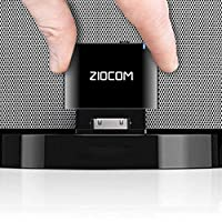ZIOCOM 30 Pin Bluetooth Adapter Receiver for iPhone iPod Bose SoundDock and Other 30 pin Dock Speakers with 3.5mm Aux Cable(Not for Car),Black