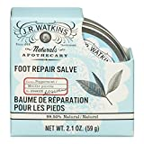 J.R. Watkins Foot Repair Salve, Peppermint, 2.1 Ounce