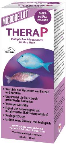MICROBE-LIFT TheraP - Wasseraufbereiter, Bakterienpräparat für Aquarien, Meerwasser, Süßwasser - 118 ml