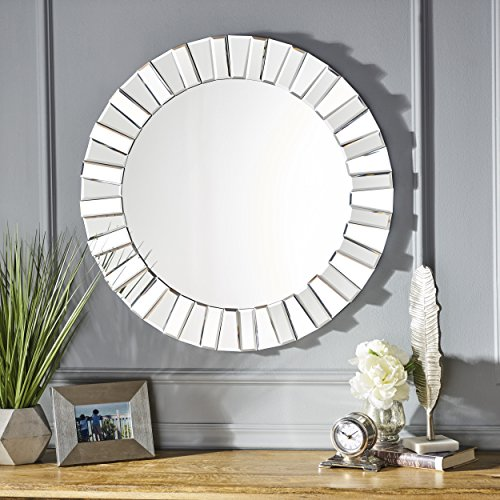 Christopher Knight Home 301978 Harlow Star Wall Mirror Clear