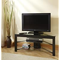 Convenience Concepts TV-01 Wood and Glass TV Stand for Flat Panel TVs Up to 46-Inch or 80-Pounds
