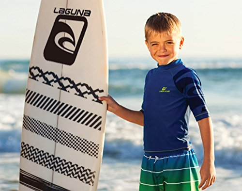 Laguna Boy's American Flag USA Board Short Swimwear Trunks Red-18/20 by Laguna (Image #5)