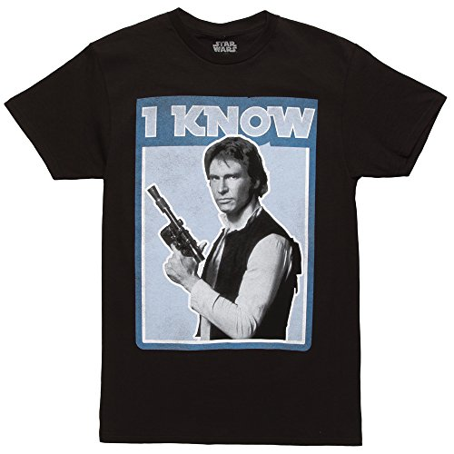 Star Wars Han Solo Quote I Know Mens Graphic T Shirt Large black Anthony Graphic T-shirt