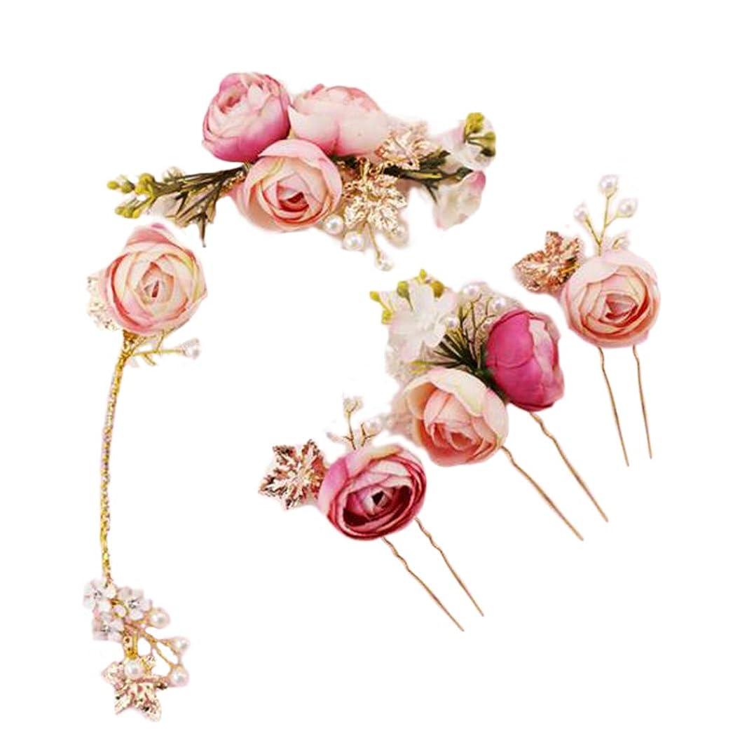 令状令状素晴らしいですヴィンテージ ラインストーン ボビーピン 髪飾り 花 ヘアピン かんざし 簪 お祭り 贈り物