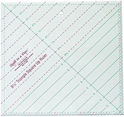 Quilt in a Day 9 1//2 Inch by 9 1//2 Inch Square Up Ruler