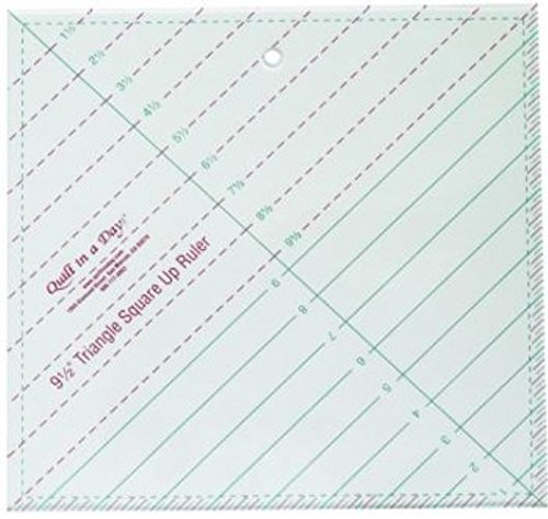 (9 1/2-inch Triangle Square up Ruler By Quilt in a Day)