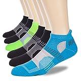 LITERRA Men's Athletic Ankle Running Socks Performance Low Cut Sport Tab Socks (6 Pairs)