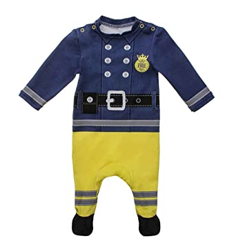 Moozels Fireman Fancy Dress Costume Easy Clean Cotton Babygrow 6