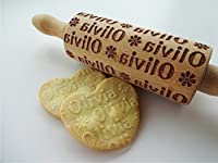 Personalized KIDS Rolling Pin with NAME. Embossing rolling pin. Kids Baking Rolling Pin. Pretend Kitchen Play