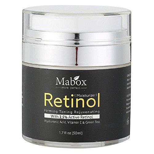 Retinol 2.5% Moisturizer Face Cream Vitamin E Collagen Retin Anti Aging Wrinkles Acne Hyaluronic Acid Green Tea Whitening Cream