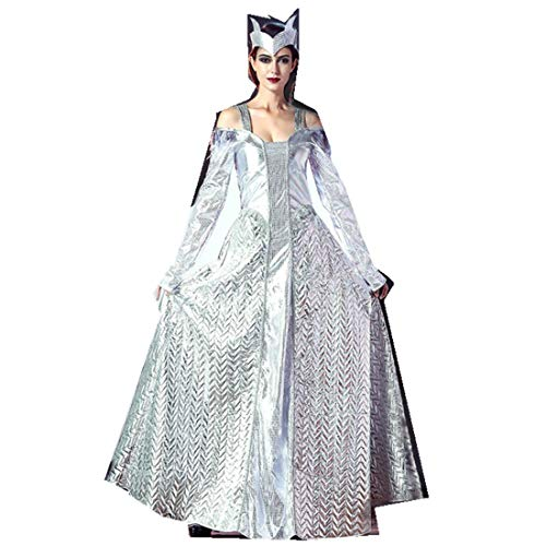 Women Halloween Ice Queens Goddess COS Cosplay Costumes Clothing Dress Clothing White -