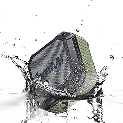 HaMi 4.0 Portable Wireless Bluetooth Speaker with Rugged Shockproof and Waterproof for Bluetooth Devices , Army Green
