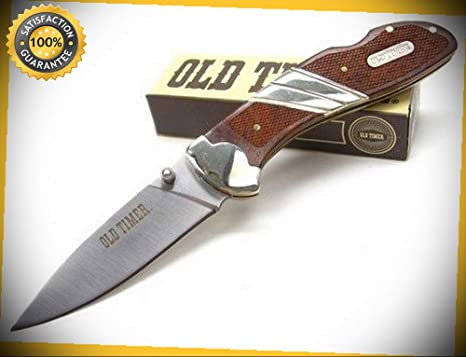 Amazon.com: Old Timer 7Cr17Mov - Cuchillo afilado plegable ...