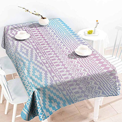 (familytaste Afghan,Personalized Tablecloths Geometric Shapes with Triangles Rhombuses and Herringbone Zigzag Stripes 70