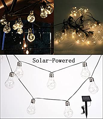 Isyunen Solar Globe String Lights