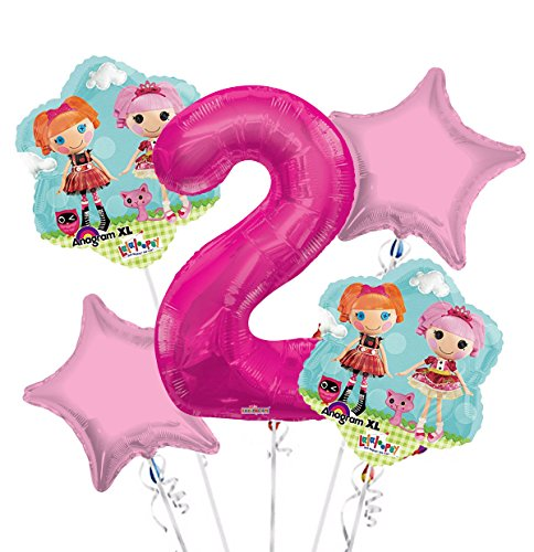 Lalaloopsy Balloon Bouquet 2nd Birthday 5 pcs - Party Supplies]()