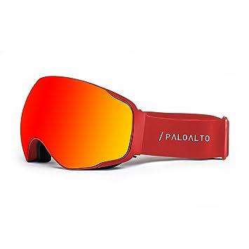 Paloalto Sunglasses Shasta - Gafas de esquí polarizadas Unisex, Rojo: Amazon.es: Deportes y aire libre