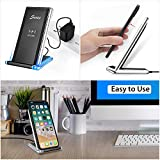 Wireless Charger, Seneo 10W Qi Fast Wireless Charger Charging Pad Stand for Galaxy S9/S9+ Note 8/5 S8/S8+ S7/S7 Edge S6 Edge+, Standard Wireless Charging Stand for iPhoneX 8 8+(No AC Adapter)