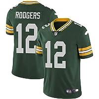 xyy Camiseta del Jersey del fútbol de la NFL Green Bay Packers Aaron Rodgers # 12, fútbol Americano Ropa de Deporte…