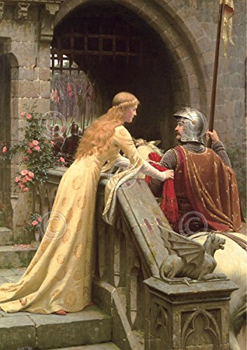 - God Speed Edmund Leighton Medieval Knight Romantic Poster (Choose Size, Print or Canvas)