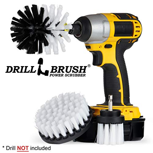 Price comparison product image Drill Brush - Drill Brush Attachment – Cleaning Brush for Drill – Drill Brush Set – Brush Scrubber – Power Scrubber Drill Brush – Glass Cleaner – Carpet Cleaner – Drill Brush Rims – Drill Brush Wheels