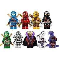 Minifigure Ninja 9pcs/set Ninjago Lloyd Skylor Zane Cole Jay Kapau Building Toy(Without Original Box)