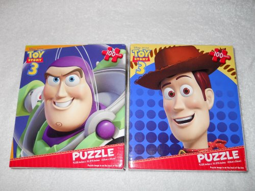 Lightyear Puzzle Buzz (2 TOY STORY 3 100 PIECE PUZZLES [WOODY & BUZZ LIGHTYEAR])