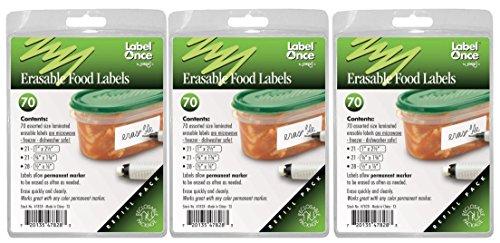 Jokari 210 Count Label Once Erasable Reusable Food - Jokari Erasable Food Labels