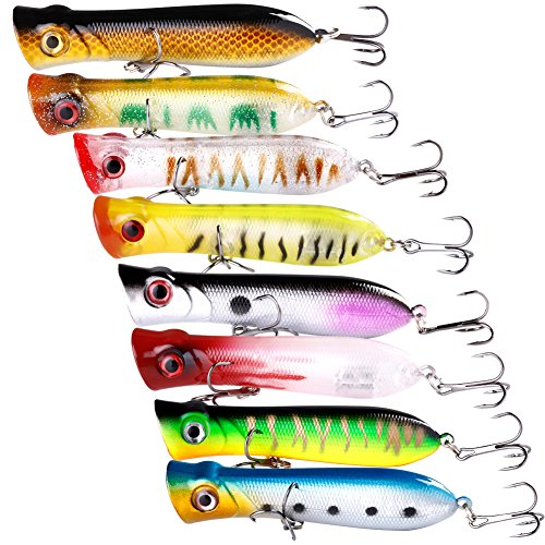 Sougayilang Fishing Lures Topwater Pencil Popper Casting Trolling Fish Crankbaits (Lures Casting)