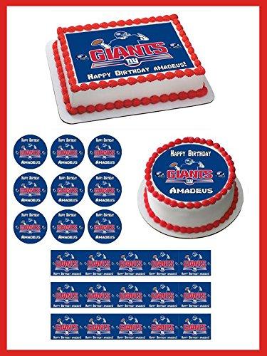 New York Giants - Edible Cupcake Toppers - 1.8