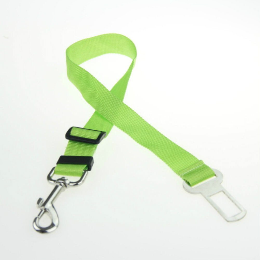 Green Green Safety Seat Belt Car Vehicle Auto Seatbelts Harness Leash For Dog Pet