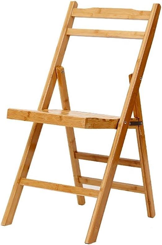 Qi Tai Bambú Plegable Silla de la Cocina Silla de la Pesca Plegable Taburete de Madera portátil Silla Plegable Silla de Oficina Silla del Ocio Escalera telescópica: Amazon.es: Hogar