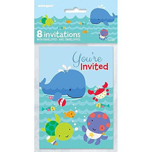 amazoncom under the sea invitations 8ct kitchen dining - Under The Sea Party Invitations