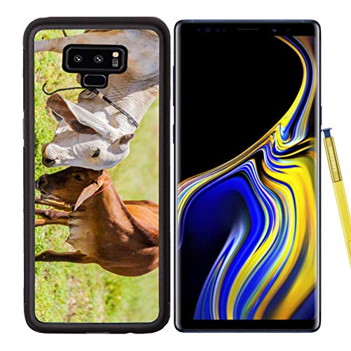 (Samsung Galaxy Note9 Case Aluminum Backplate Bumper Snap Case Image 26972207 Brown Cows can Show affection by by Varsity The Calf s Forehead)