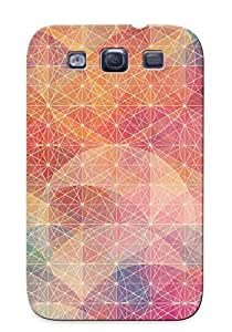 High Quality Markrebhood Circles And Plain Polygons Skin Case Cover Specially Designed For Galaxy - S3