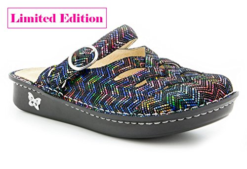 Alegria Alegira Womens Freesia Leather Clog Limited Edition Ric Rack Rainbow 2014 unisex sale online bjjfm
