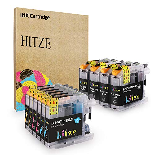 HITZE Compatible Ink Cartridge Replacement for Brother LC103 LC101 LC 103 103XL LC103XL for Brother MFC-J870DW MFC-J450DW MFC-J6920DW MFC-J875DW MFC-J475DW MFC-J470DW MFC-J285DW MFC-J6720DW ()