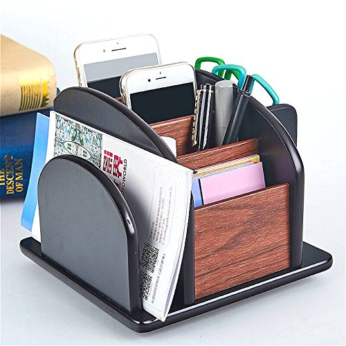 Wood Office Supplies Desk Organizer Rack Desktop Office Supplies Storage Organizer (Desk Organizer-6)