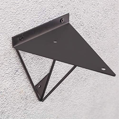 棚受け金具 アイアンブラケット プリズムシェルフブラケットウォールは、工業棚が2個をサポートマウント 棚 支え (Color : Black, Size : 15x13x17cm)