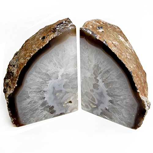 Genuine Brazilian Extra Quality Agate Bookends. 2.2 to 3.5 (Natural) -