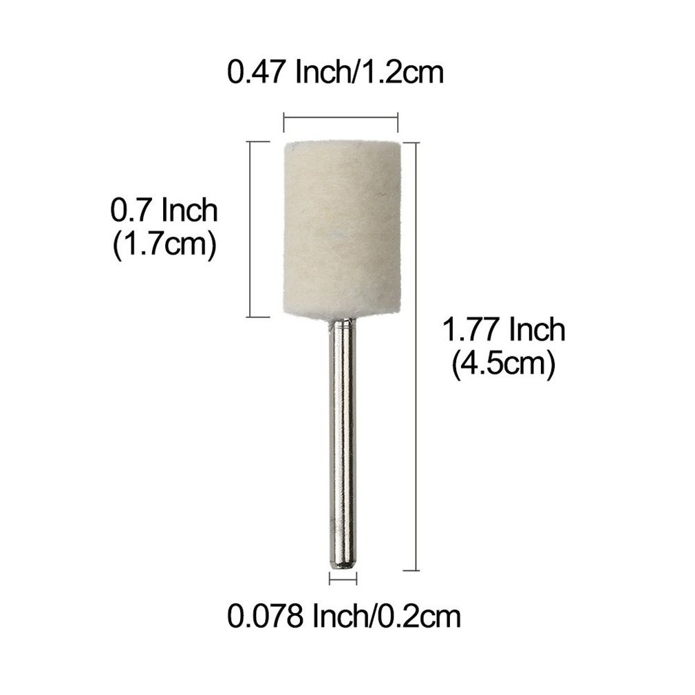 12 PCS Polishing Mop Cone//Column//Mushroom//White Cloth Buffing Wheel,4*12mm Yinew Polishing Wheel