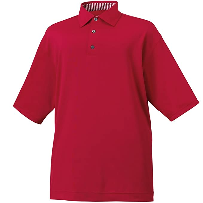 4f2ee05d0 Amazon.com  FootJoy Solid Lisle Self Collar Golf Polo  Sports   Outdoors