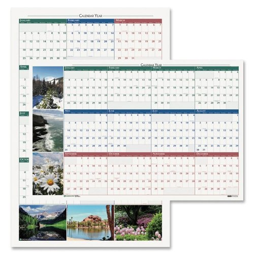 House of Doolittle HOD3931-14 Earthscapes Scenic Laminated Write-On/Wipe-Off Wall Planner, January 2014 to December 2014, 32 x 48 Inches, Nature Photo, Recycled (HOD3931) (Planner Earthscapes Laminated)