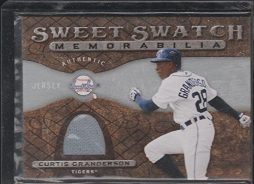 2009 Sweet Spot Curtis Granderson Tigers Game Used Jersey Baseball Card #SS-CG